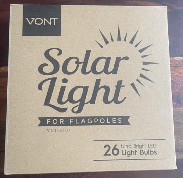 Vont Solar Flagpole Light