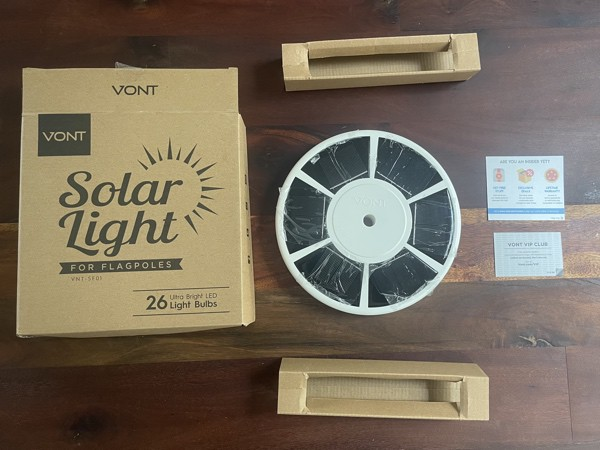 Vont Solar Light Packaging